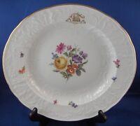 Antique 19thC Meissen Porcelain Monogram Floral Plate Porzellan Teller German