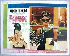 80's Vintage ☆ BREAKFAST AT TIFFANY'S ☆ Audrey Hepburn ☆ Lobby Card Poster Litho
