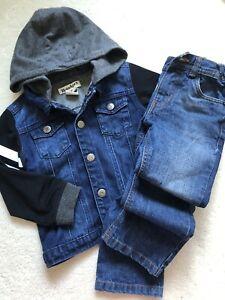 Boy's Denim Hoodies Jacket + Jeans 👖 , size 4, As New