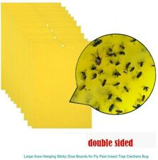 20x Yellow Sticky Glue Paper Insect Trap Catcher Killer Fly Bug Aphids Wasp A901