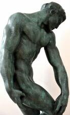 Bronze Figur  Adam mit Künstlersignatur  signiert Rodin auf Marmorsockel 6,8 kg