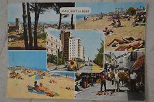 """CPM """" MALGRAT DE MAR - Différentes vues de la plage et de la ville"""