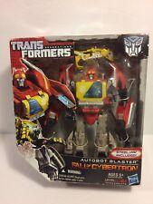 Transformers Generations Fall of Cybertron Autobot Blaster BOX HAS DAMAGE