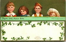 Postcard Signed Clapsaddle St. Patrick's Day From the Auld Sod Children 1911 A13