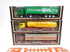 CA401-0, 5 #3x Herpa 1:87 / H0 Semirremolque Volvo: 801221+800220+801203 , S.G