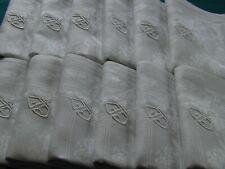 SUPERBE service, nappe + 12 serviettes, PUR fil de lin, ancien