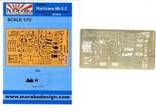 Marabu Models 1/72 HAWKER HURRICANE Mk.IIC Photo Etch Detail Set