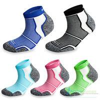 1 Pair More Mile Cushioned Coolmax Sports Running Ankle Socks Mens Ladies Womens