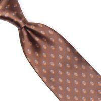 VTG Countess Mara Mens Silk Necktie Brown Blue Orange Paisley Neat Print Tie