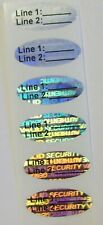 Svoc 100 To 1000 Svag Oval Customized Product Protection Hologram Label Sticker