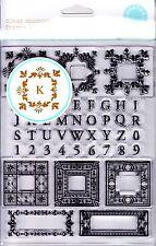 FLOURISH MONOGRAMS ALPHABET - MARTHA STEWART CLEAR STAMP SET