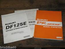 MANUEL REVUE TECHNIQUE D ATELIER SUZUKI DR 125 SE FE E DRSE 1993-2000