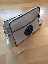 Pan Am bag Vintage White Carry On Travel Shoulder Flight Airline