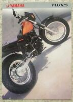 YAMAHA TW125 MOTORCYCLE Sales Brochure c1999 #LIT-3MC-0107005-99E