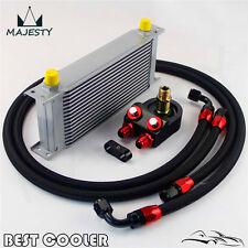 16 Row AN-8AN Universal Engine Oil Cooler Kit For EVO DSM EK EG STI WRX SR20DET