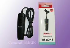 Remote RS-80N3 Shutter Release for Canon For Canon 7D Mark II, 7D, 6D, D60, 50D