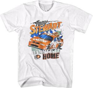 Vintage Nascar Tony Stewart Racing Shirt Unisex Tee White Unisex Cotton TK1143
