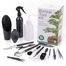 More details for bonsai tool kit | 15pcs plant care tools | sturdy gardening & maintenance set