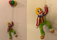 Vintage 1970's Mexican Folkart Papier/Paper Mache Hobo Clown Balloons Hand Made