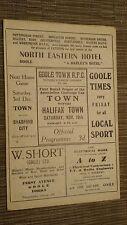 FA Cup 1955/56 - Goole Città V HALIFAX TOWN - 1st ROUND 19/11/55,