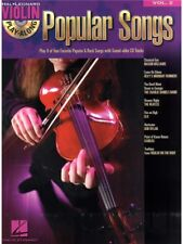 Violin Play-Along Popular Songs Learn to Pop Chart Hits Fiddle MUSIC BOOK & CD