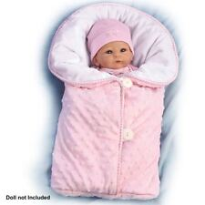 "Reversible Pink Fleece Bunting Baby Doll Accessory - Fits dolls up to 19"" L"