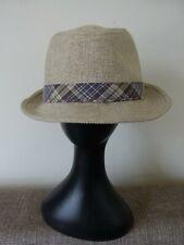 Stetson Men's Fedora Hat Checkered Trim Beige Size X Large