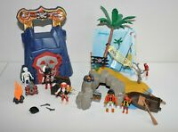 Playmobil 4139 Pirates Island Compact Set and 4776 Travel Dungeon Lot