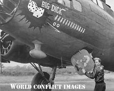 USAAF WW2 B-17 Bomber Big Dick 8x10 Nose Art Photo 96th BG WWII