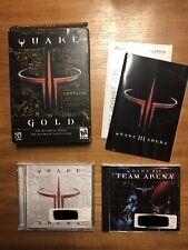 Quake 3 III Gold Edition PC Mac Complete! Quake Arena & Team Arena 2002 With Key