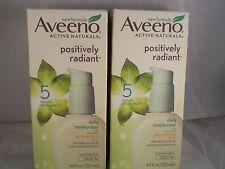 Aveeno Positively Radiant Daily Moisturizer SPF 15 - 4.oz each (2pk) exp 4-2019