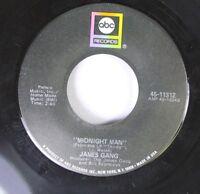 Rock 45 James Gang - Midnight Man / White Man/Black Man On Abc Records