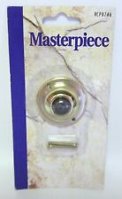 Broan NuTone RCPB746 Surface Mount Traditional Round Brass Doorbell Button