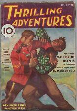 Vintage Pulp Magazine~THRILLING ADVENTURES~July 1933 Jackson Cole+ DESOTO Cover!