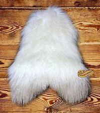 FUR ACCENTS English Sheepskin Area Rug Shaggy Long Hair Faux Fur 2' x 4'