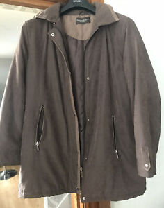 KATHERINE HAMMOND COLLECTION LADIES BROWN QUILTED JACKET SIZE 16 IMMACULATE