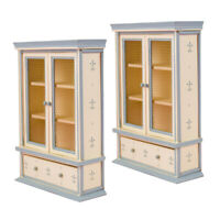 3 Pieces 1//12 Dollhouse Exquisite Cabinet Room Furniture Toy Accessory White