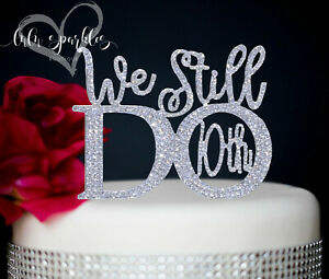 Silver 10th Wedding Anniversary Rhinestone Number Cake Topper party decoration