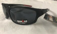 "New Men's Ironman ""Agile"" Black Sunglasses  sports wrap  impact resistant black1"
