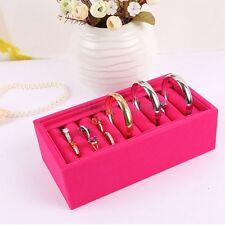 Velvet Ring Bracelet Earring Jewelry Display Organizer Box Holder Storage  Z53