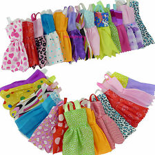 Colorful Random 12x Mini Dress Floral Outfit Clothes For Barbie Doll Clothes #A