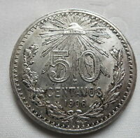 MEXICO 50 centavos 1906 UNC