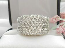 QVC- Diamonique Pave set sterling Band Ring Size 6