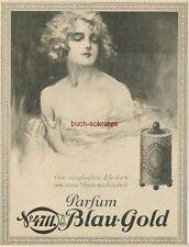 """Werbung Anzeige Parfum 4711 Blau-Gold - """"reine Frauenschönheit"""" - 1926"""