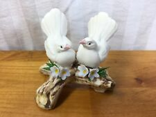 Nuova Capodimonte: 2 White Doves On Branch, Mint, Elegant, Hand Painted (G)