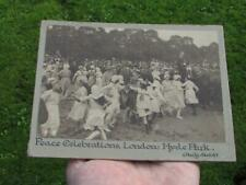 More details for ww1 wwi peace celebrations london hyde park -  daily sketch  photograph