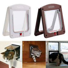 CAT PUPPY PET DOOR FLAP 4 WAY LOCKABLE SMALL MEDIUM LARGE MAGNETIC DOOR FRAME
