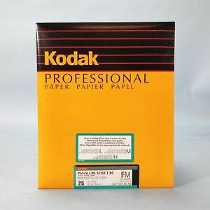 "Kodak Panalure Select RC Glossy B&W 20,3 x 25,4cm 8x10"" 25 Sheets - NOS Sealed"