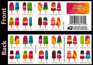 US 5285-5294 5294b Frozen Treats forever booklet (20 stamps) MNH 2018