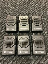 Lot of Six (6) Motorola Minitor V Pagers 151-158.9975 Mhz 2 Ch Vhf A03Kms9239Bc